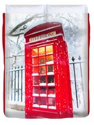 London Red Telephone Booth  Duvet Cover