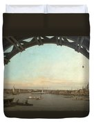 London Seen Through An Arch Of Westminster Bridge Duvet Cover