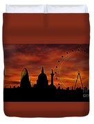 London Skyline At Dusk Duvet Cover