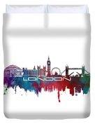 London Skyline City Blue Duvet Cover