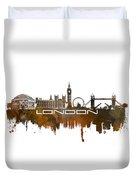 London Skyline City Brown Duvet Cover