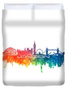 London Skyline City Color Duvet Cover