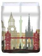 London Skyline Poster Duvet Cover