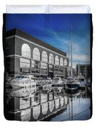 London. St. Katherine Dock. Reflections. Duvet Cover