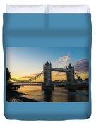 London Sunrise Duvet Cover