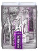 London Telephone Purple Duvet Cover