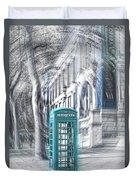 London Telephone Turquoise Duvet Cover