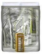 London Telephone Yellow Duvet Cover