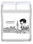 London The Fashion Capital Duvet Cover