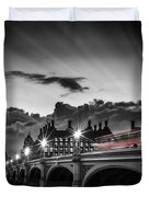 London Westminster Bridge At Sunset Duvet Cover