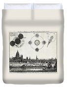 London With Eclipse Diagram, 1748 Duvet Cover