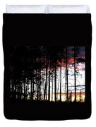 Lone Butte Sunset Duvet Cover