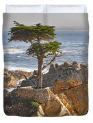 Lone Cypress - The Icon Of Pebble Beach California Duvet Cover