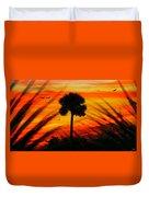 Lone Palm Florida Duvet Cover