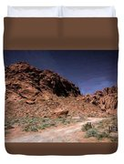 Lone Rock Road Overton Nevada  Duvet Cover