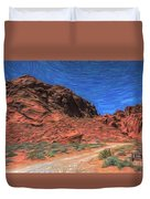 Lone Rock Road Paint  Duvet Cover