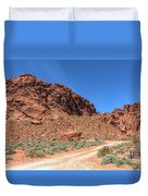 Lone Rock Valley Of Fire  Duvet Cover