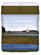 Lone Sail Duvet Cover