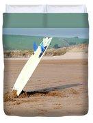 Lone Surfboard Duvet Cover