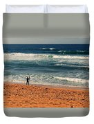 Lone Surfer Duvet Cover