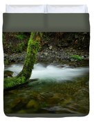Lone Tree And Running Water Duvet Cover