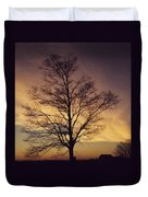 Lone Tree At Sunrise Duvet Cover