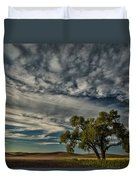 Lone Tree In Field Duvet Cover
