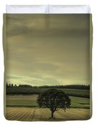 Lone Tree In The Field Duvet Cover
