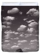 Lone Tree Morning In B And W Duvet Cover