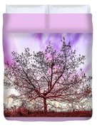 Lone Tree On The Hill Duvet Cover