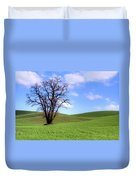 Lone Tree - Rolling Hills - Summer Sky Duvet Cover