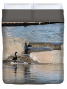 Lone Waterfowl Duvet Cover