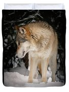 Lone Wolf IIi Duvet Cover