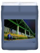 Loneliness In The City Duvet Cover