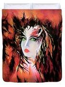 Lonely Angel Of God Duvet Cover