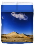 Lonely Cloud Over Sand Dunes At Bruneau Dunes State Park Idaho Usa Duvet Cover