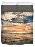 Lonely Couple  Duvet Cover