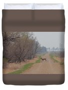 Lonely Deer Crossing Duvet Cover