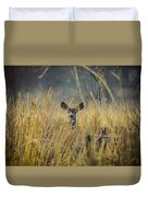 Lonely Deer In The Field Duvet Cover