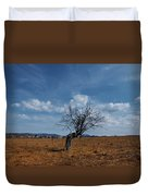 Lonely Dry Tree In A Field Duvet Cover