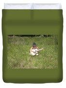 Lonely Guitar Two Duvet Cover