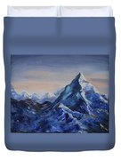Lonely Mountain Cliff Duvet Cover