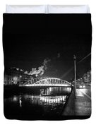 Lonely Night Bw Duvet Cover
