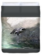 lonely Penquin Duvet Cover