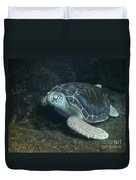 Lonely Sea Turtle Duvet Cover