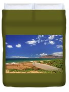 Lonely Surfboard Duvet Cover