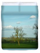 Lonely Tree Cotswold England Duvet Cover