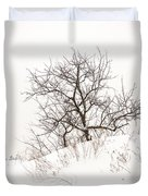 Lonely Tree On A Hill Duvet Cover