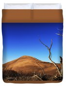 Lonely Bare Tree And Sanddunes Duvet Cover