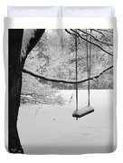 Lonely Winter Swing Ipswich Ma Duvet Cover